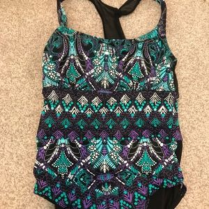Pretty patterned one-piece swimsuit